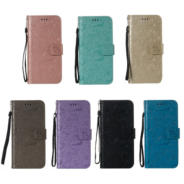 Unicorn Flip Cover For OPPO A79 A 79 K KT 6.0'' Inch Wallet Card Slot Phone Leather Case For OPPO A79 A79K A79KT Coque Housing