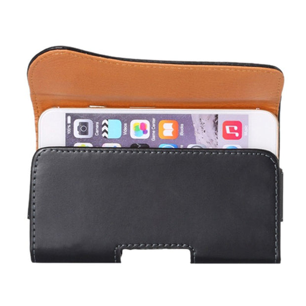 Universal Men Waist Packs Mobile Phone Bags Hook Loop Belt Clip Case Waist Bag PU Leather Fashion Belt Clip Bag For Iphone/Sony