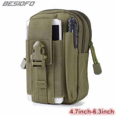 Universal Military Tactical Holster Belt Zipper Bag Waist Sport Bags Phone Case For OPPO F1 F3 F5 F7 7A R9 R9S R11 R15 R17