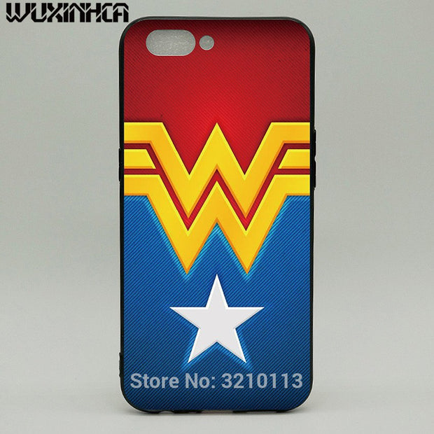 WUXINHCA Shockproof Phone Case For OPPO R11 Cases Wonder Woman Pattern Soft Silicone Back Cover For OPPO R11 R11S Plus