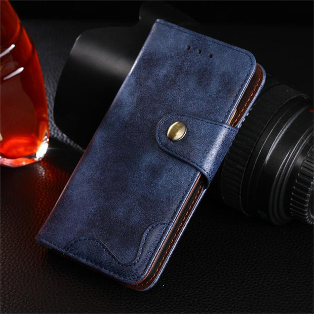 Wallet Book Cover Huawei P10 Lite P10Lite 5.2 Inch 2018 Luxury New Rivet Flip Leather Case Cover For Huawei P10 Lite Phone Cases
