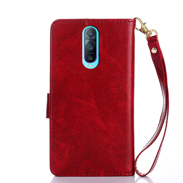 Wallet Case For Oppo A7 2018 K1 F9 Pro A7X R17 Pro A73s F7 Youth Realme 1 A3 A79 A5 A3s Case Cover Flip Leather Phone Case