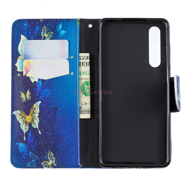 Wallet Case For Huawei P Smart 2019 Honor 10 Lite Case PU Leather Flip Cover For Huawei Honor 10 Lite Honor10Lite P Smart2019