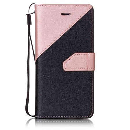 Wallet Flip Case For Moto G5 Plus 2017 PU Leather Soft TPU Phone Back Cover Card Slot Pocket Coque Bag Frosted Matte Luxury Gold