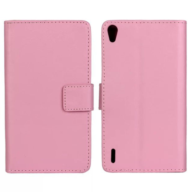 Wallet PU Leather Cover Stand Case For Huawei Ascend P7 Phone Case Pink Green
