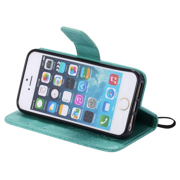 Wallet Phone Holder For Apple IPhone 5s Case Armor Shockproof Full Cover For IPhone SE Case Coque IPhone 5 Flip Case IPhone5