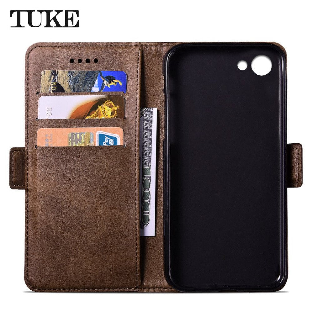 Wallet Style PU Leather Mobile Phone Case Cover For OPPO A77 Taiwan Protective Case With Card Slots For Oppo A 77 Taiwan