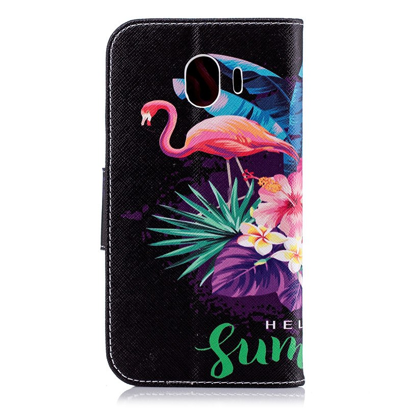 Wekays For Samsung Galaxy J4 2018 J400 Case Cute Cartoon Flamingo Leather Funda Case For Samsung Galaxy J6 2018 J600 Cover Cases