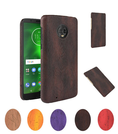 Wooden Pattern Cover For Motorola Moto G6 Plus XT1926-6 Case Wood Grain Soft Back Case For Motorola G6 Plus