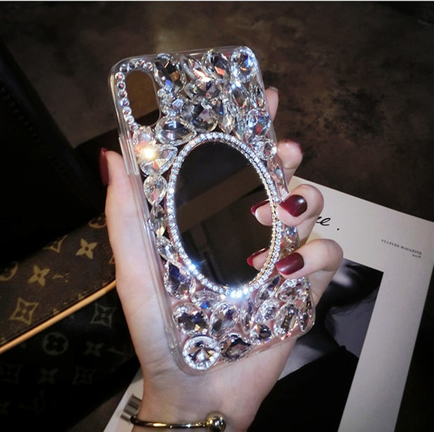 XSMYiss For Huawei Honor 8 9 10 7X Lite V8 V9 V10 Nova 2 2S Plus Luxury Bling Crystal Diamond Mirror Soft Silicone Phone Case