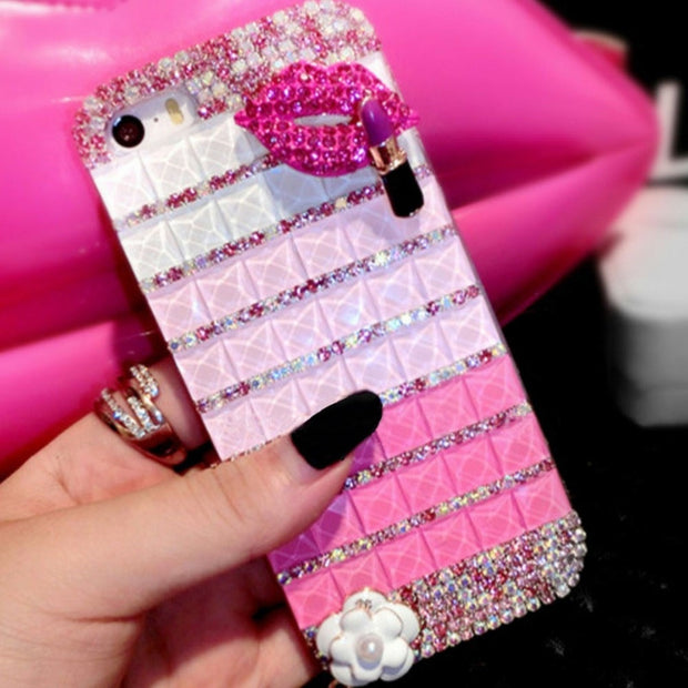 XSMYiss Rhinestone Diamond Cover Case For Iphone Xs Max 5S 5C 6 7 8 Luxury Bling Shell Soft Phone Case For IPhone 6S 7 8 Plus