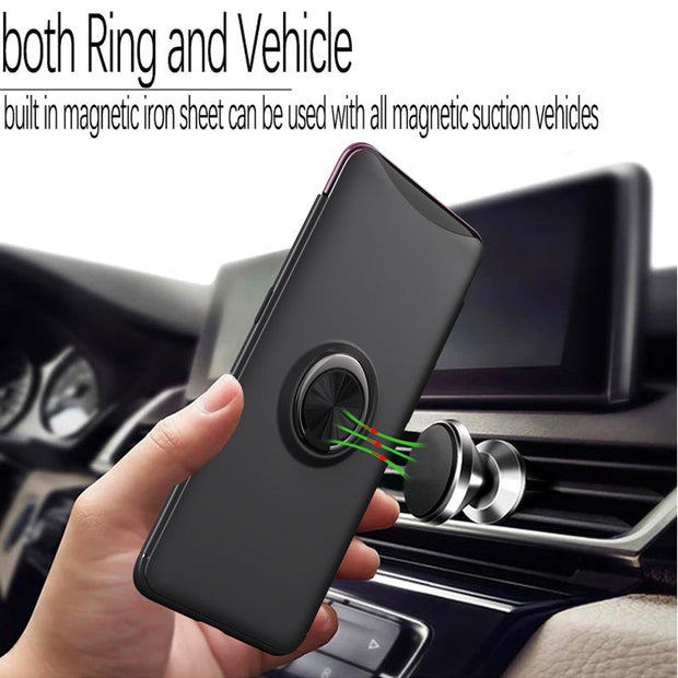 Xinchentech For OPPO Find X Case With Magnetic Car Holder PC Hard Back Cover Accessory Armor Coque Fundas Cases For OPPO Find X