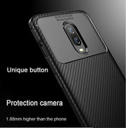 Xinyada Luxury Armor Bumper Soft Edge Silicone Carbon Fiber Case For OnePlus 6T 6 One Plus 1+6 1+6T Cover Gel Tpu Shell Coque