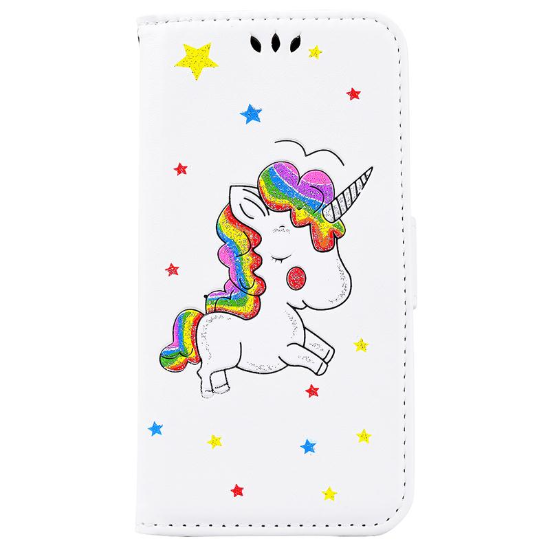 YOKATA Fashion Unicorn Flip Leather Case For Samsung Galaxy J3 J5 J7 2017 J330 J530 J730 EU Version Colorful Wallet Pink Holster