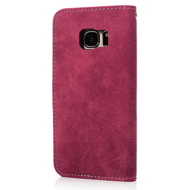 YOKIRIN Retro Flip PU Leather Wallet Case For Samsung Galaxy S7/ S7 Edge Cashmere Grain Mobile Phone Bags Stand Holder Cover