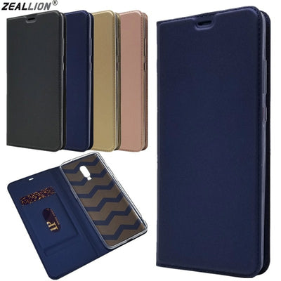 ZEALLION For OnePlus 5 5T 6 6T Luxury Ultra Thin Magnetic PU Leather Card Slot Flip Stand Phone Case Cover