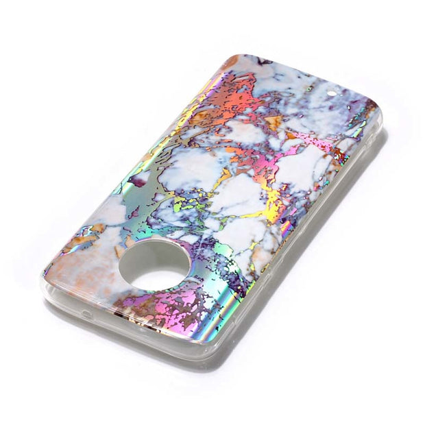 ZZCAJA Bag For Motorola G6 Case Luxury Bronzing Marble Pattern Beauty Gilding TPU Soft Phone Cover For Moto G6 Plus 2018 Fundas