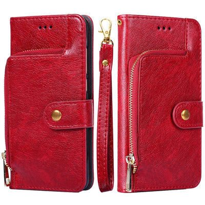 Zipper Bag For Huawei Honor 6 7 8 9 10 Plus Lite Leather Case Flip Wallet Silicone Cover For Huawei Honor 6A 7X 8C 8X Book Cases