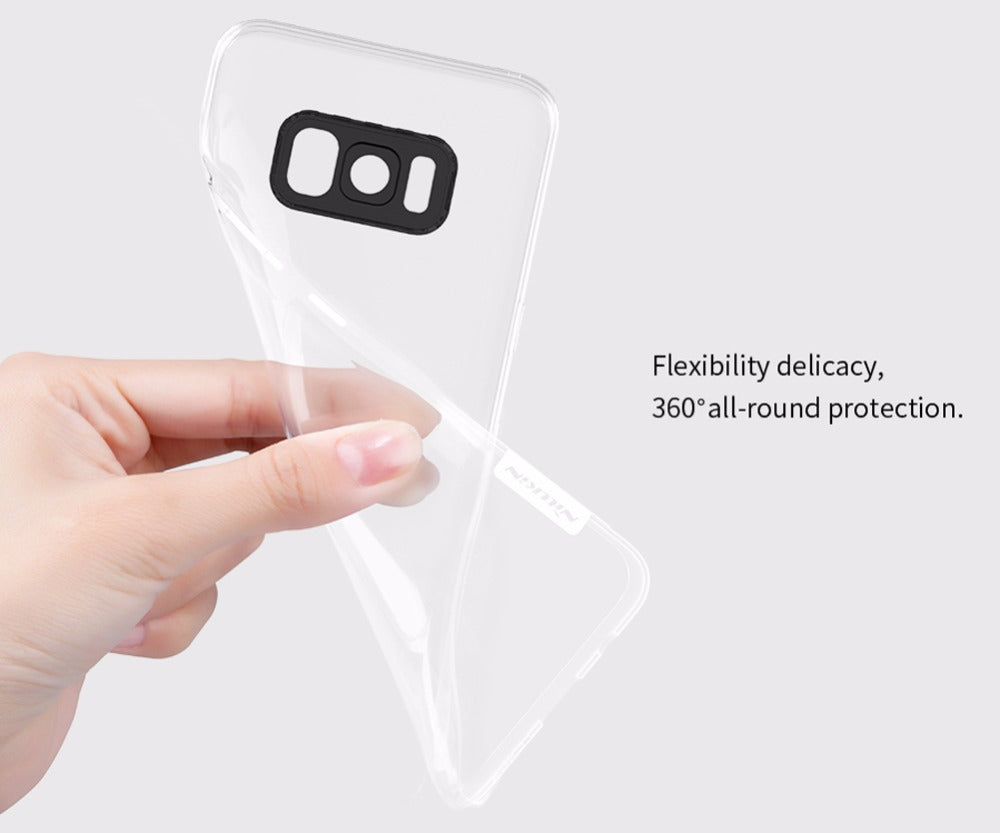 For Galaxy S8 Cover Nillkin Nature Transparent Clear Soft Silicon TPU Protector Case Cover For Samsung Galaxy S8 Plus S8+ Case