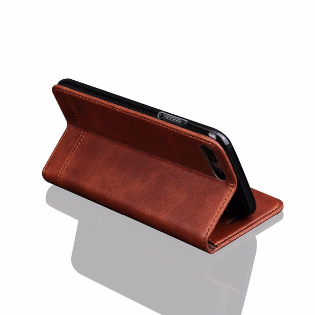 For Oneplus 5 5T Phone Case Leather Flip Cover Luxury Card Pocket For Oneplus5 For Oneplus5T One Plus 5 5T Adsorption Holster