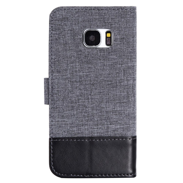 SzHAIyu Luxury Canvas Brand Phone Case For Samsung Galaxy S7 Edge Phone Case Flip Cover For Samsung Galaxy S7 Edge Phone Cover