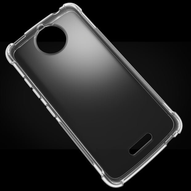 Transparent Shockproof Anti-skid TPU Gel Skin Soft Case Cover For Motorola Moto C/Moto C Plus