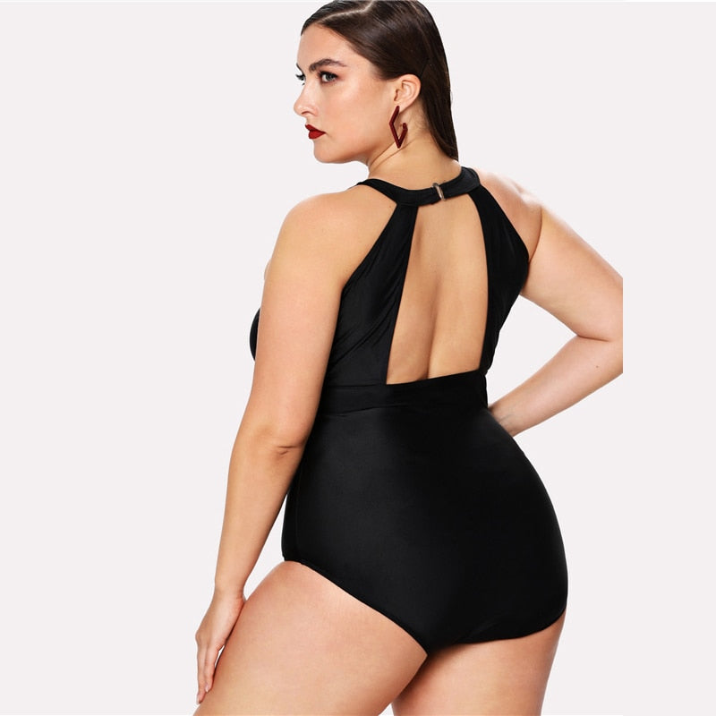 Laila Black one-piece