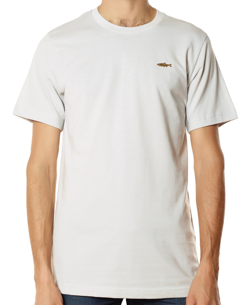Men's Brass Fish T - Clay