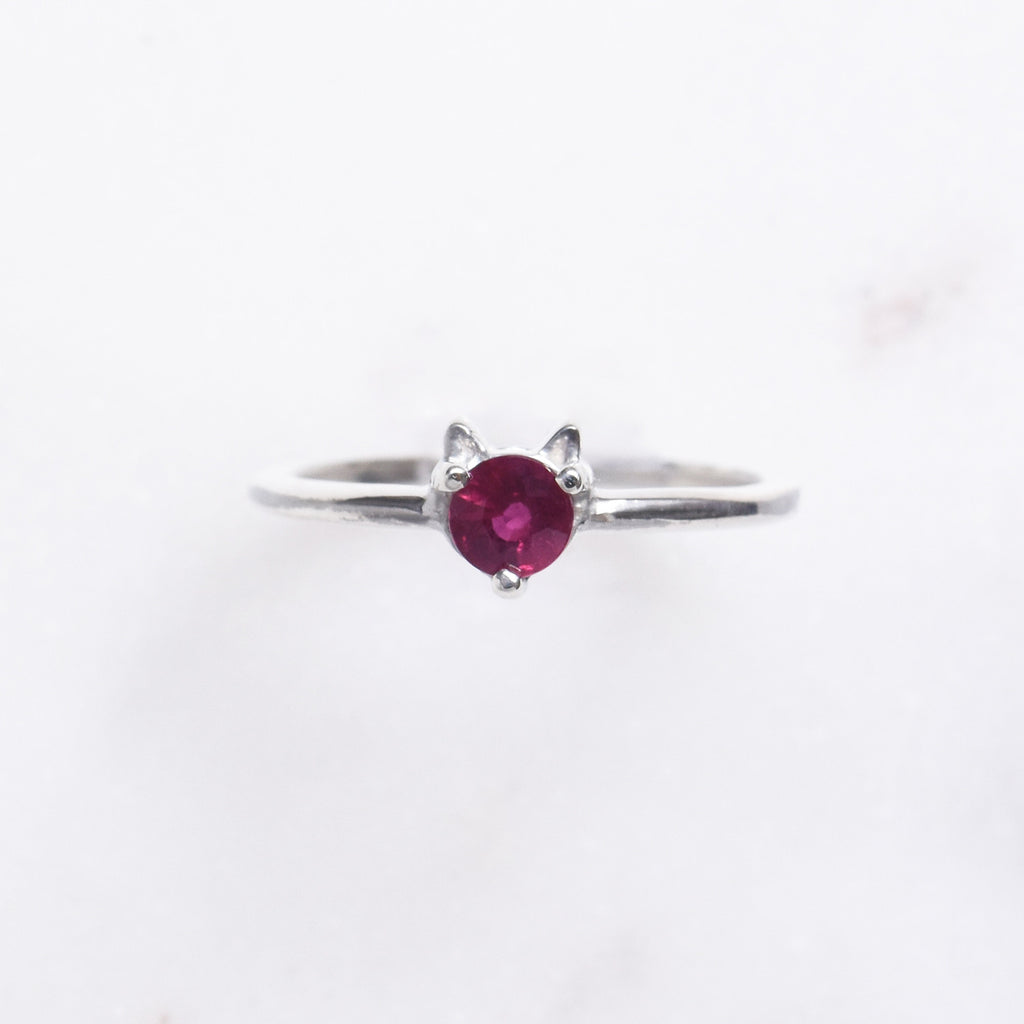 Sawyer Cat Ring - Ruby