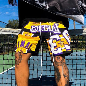 LeBron James Lakers jersey shorts