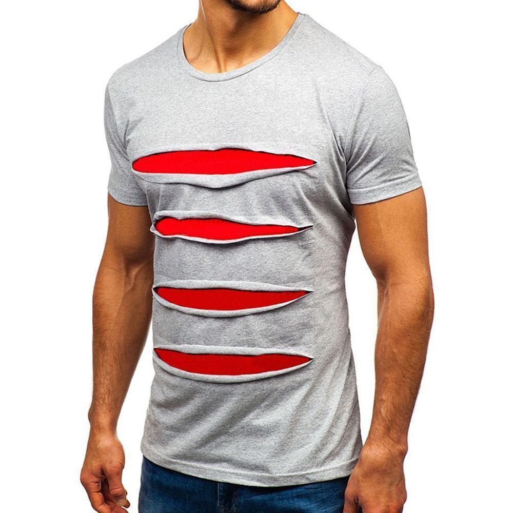 Stripe t-shirt men's short sleeve shirt with short sleeves