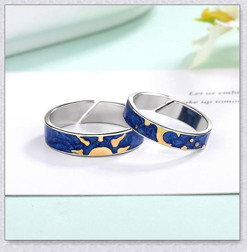 💖Hot sale! 50% Off Today Only!💖Sun Moon Couple Ring