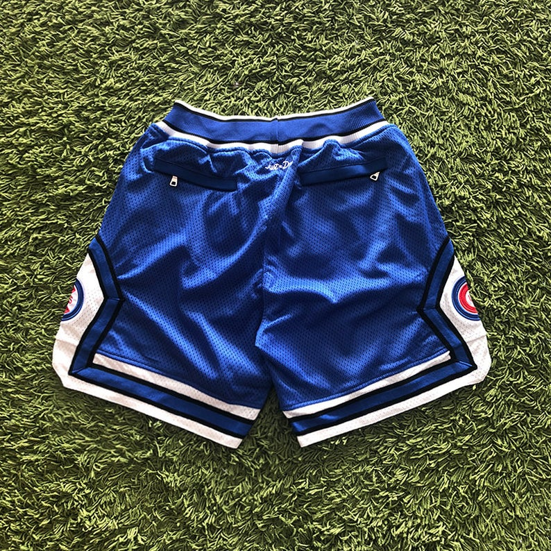 Men's Vintage Cubs Short With Pockets US Size Chicago Shorts