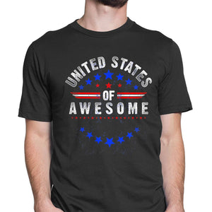 New Mens Short Sleeve Round Neck T-Shirt Great 4th of July shirt.