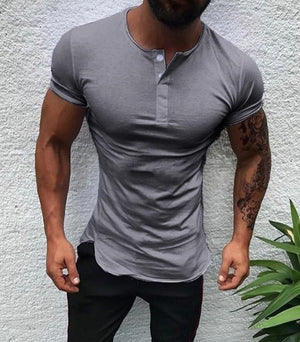 Slim fashion new men's casual slim short sleeve T-shirt