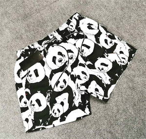 Panda print casual beach men's shorts