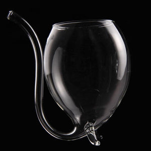 Wine Glass with Straw