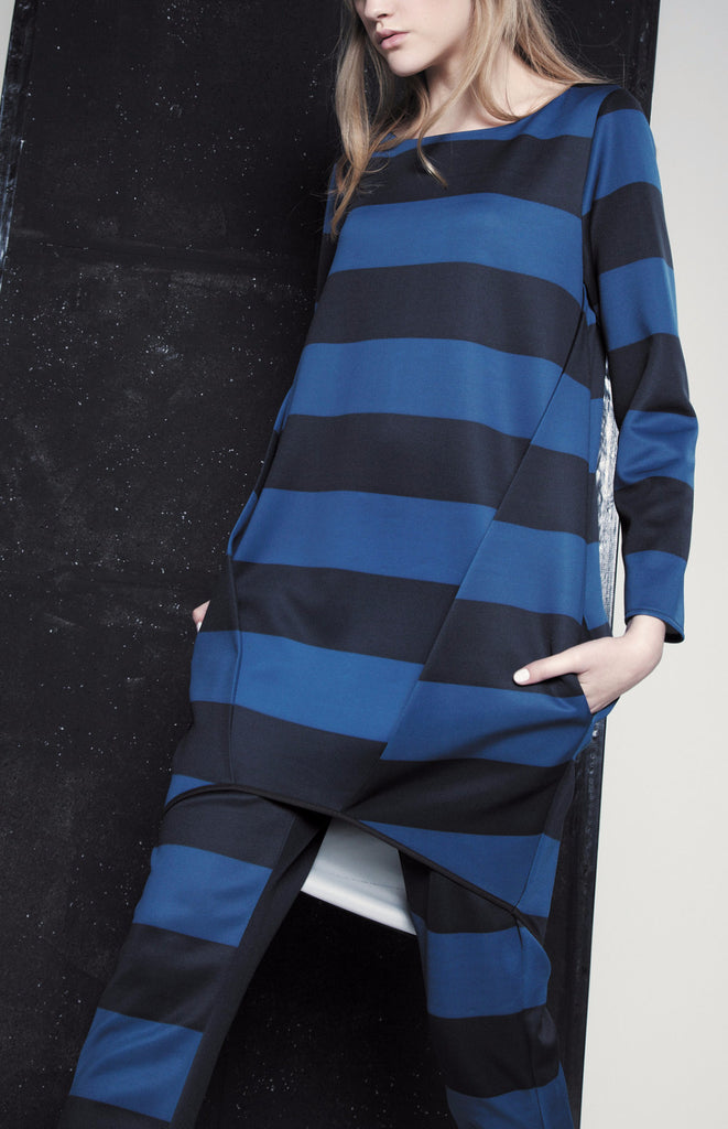 AW15/16R188 STRIPED SWEATER DRESS