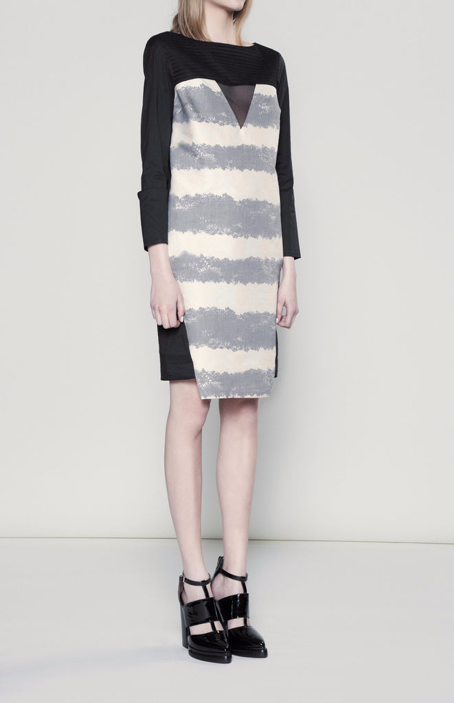 AW15/16R178 NET TRIANGLE DRESS