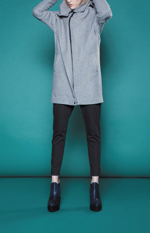 AW15/16T59 OBLIQUE CLOSURE COAT