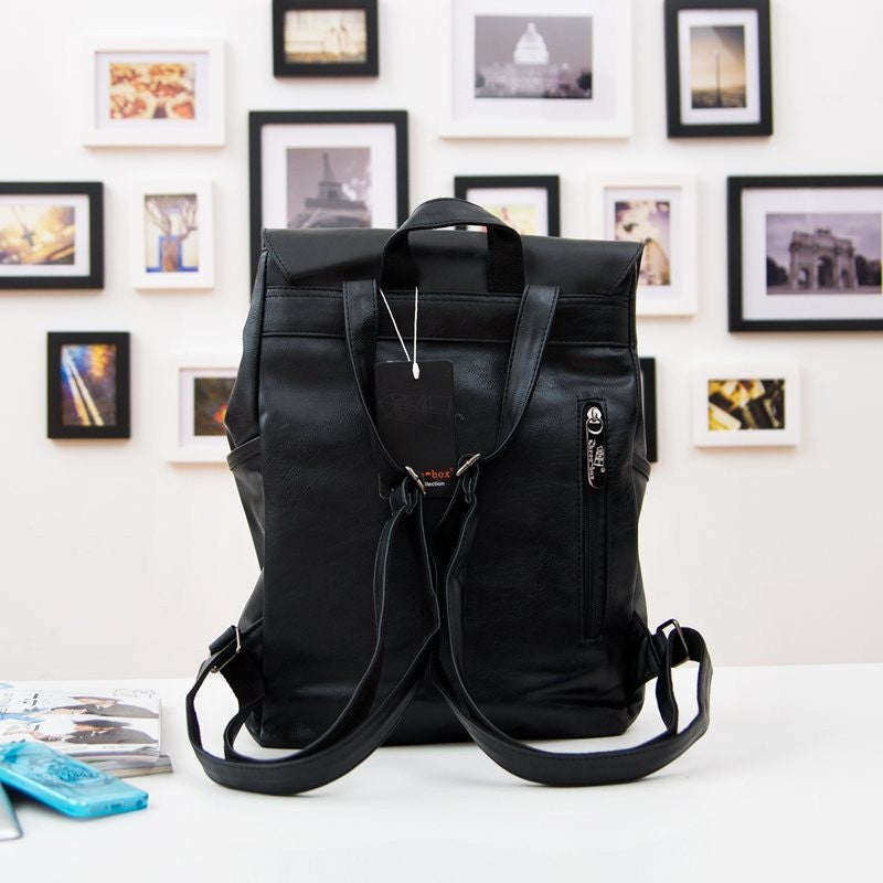 THREE BOX Vegan Leather Backpack