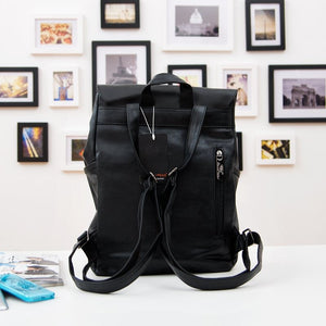 THREE BOX Veganer Lederrucksack