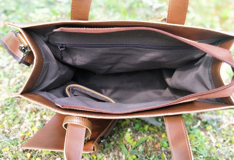 VEGIA Big Casual Vegan Leather Tote Bag
