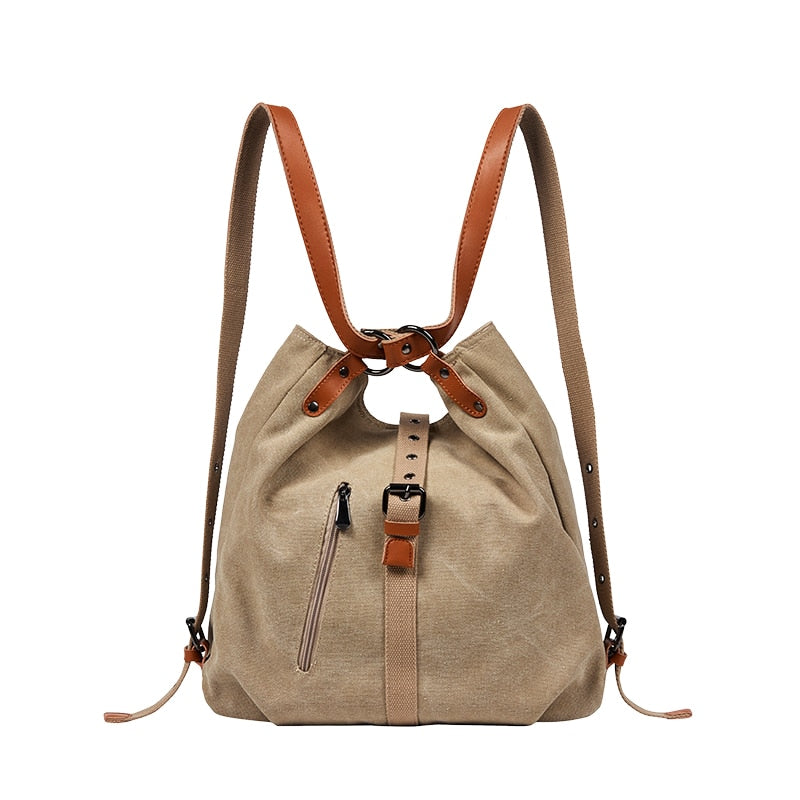 DIDA Vegan Leather and Canvas Tote Bag / Backpack