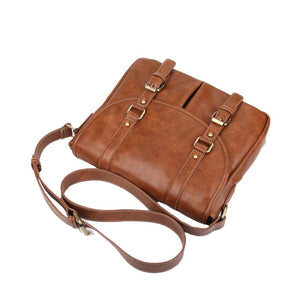 KUNZ Vintage Style Vegan Leather Crossbody Bag