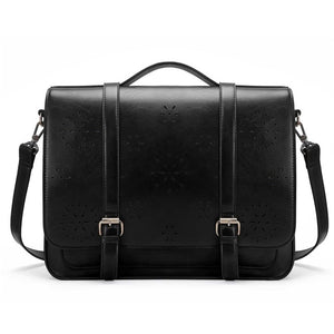 ECOSUSI Vegan Leather Floral Pattern Laptop Bag / Briefcase / Backpack