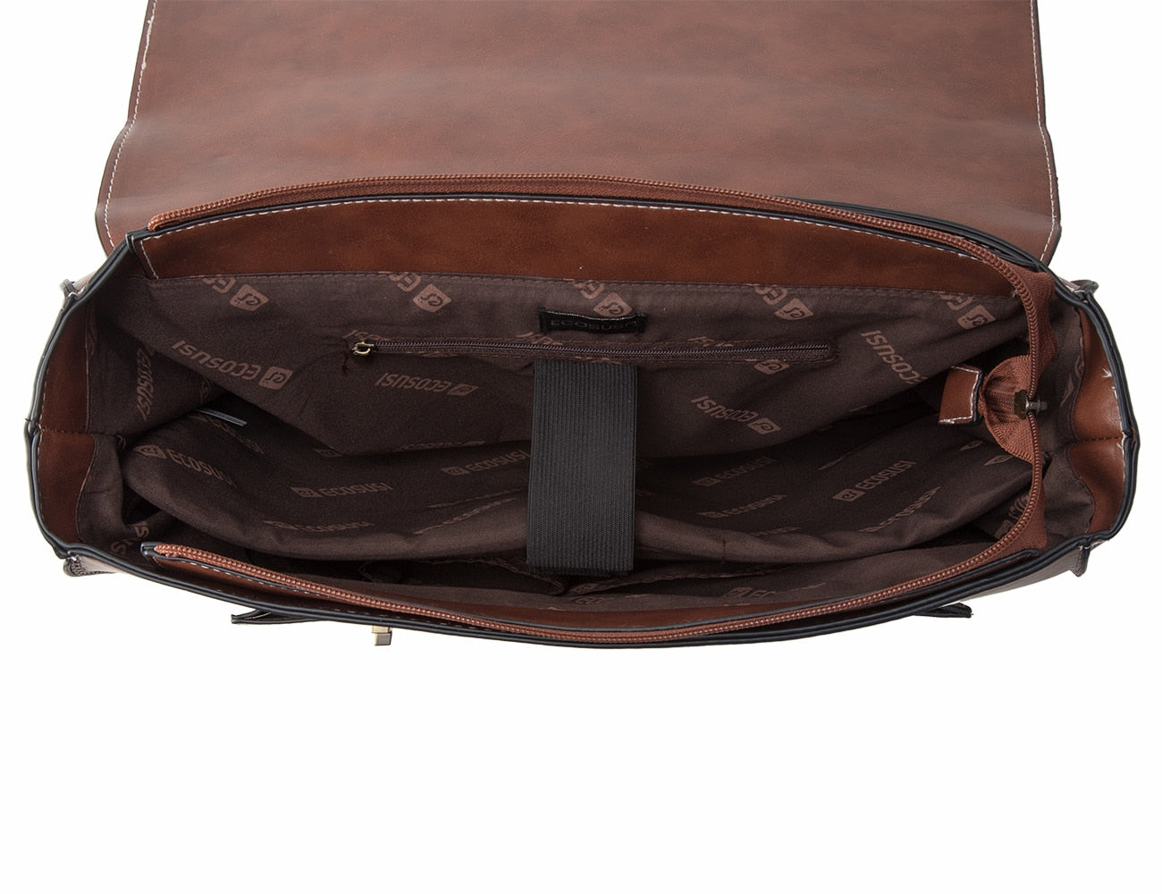 ECOSUSI Vegan Leather 14.7 Inch Laptop Messenger Bag