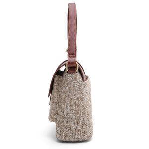 ECOSUSI Vegan Leather and Canvas Handbag