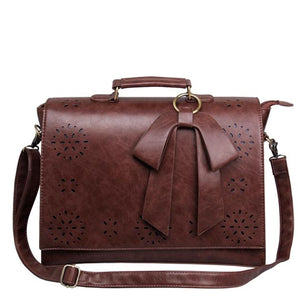 ECOSUSI Vegan Leather 15.7 Zoll Laptop Messenger Bag