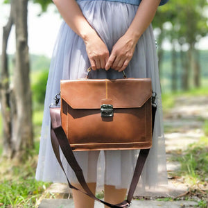 VEGIA Vintage Vegan Leather Briefcase